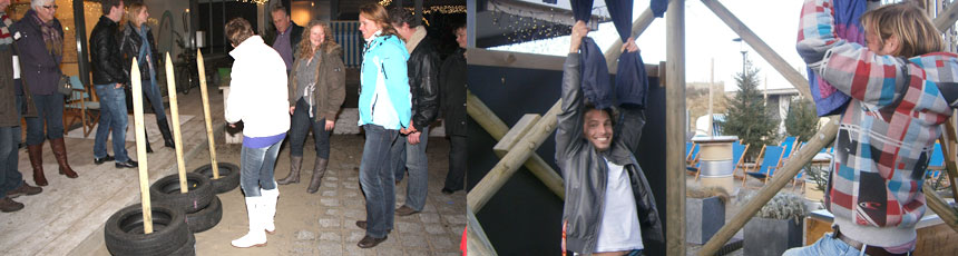 Winterspelen met groep in Noordwijk